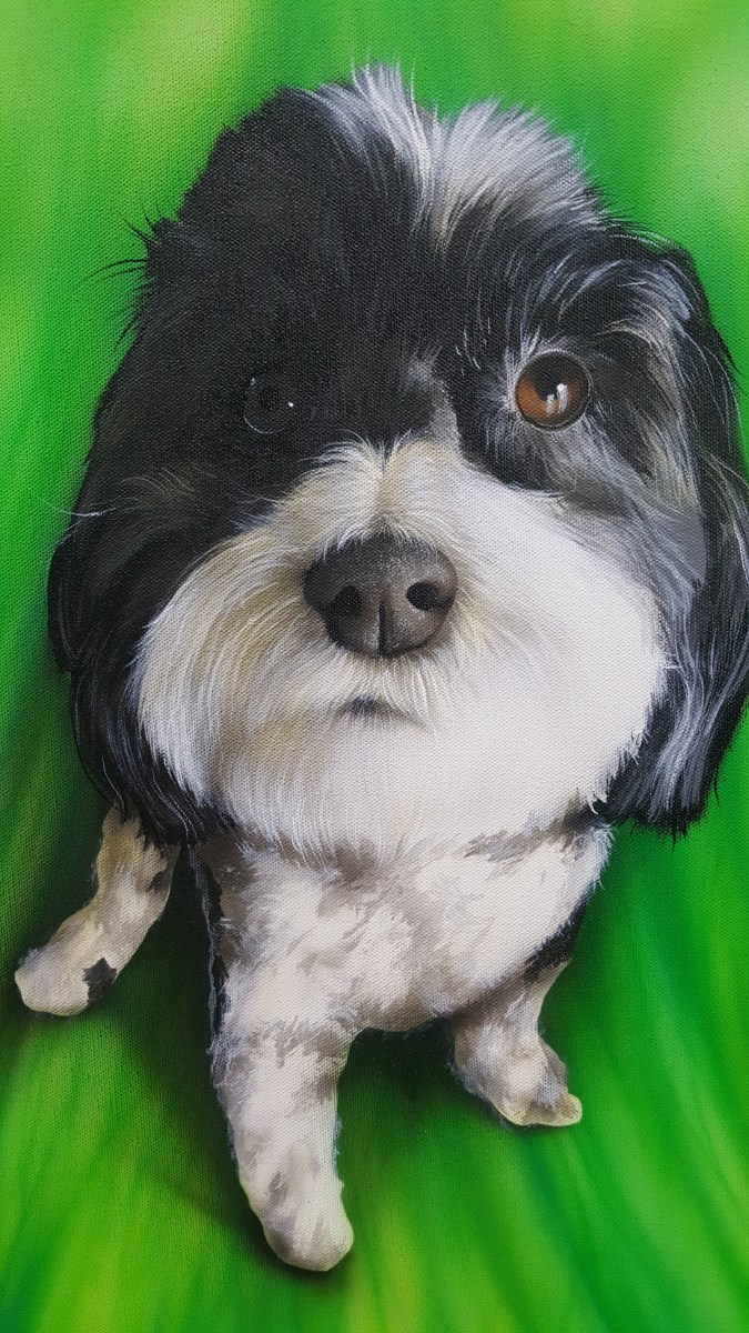 "Airbrushing a Pet Portrait with ""Maddi"""